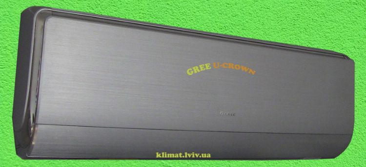 1. Зображення кондиціонера Gree GWH09UB-K3DNA4F серії U-CROWN DC Inverter для вітальної кімнати до 25 м2