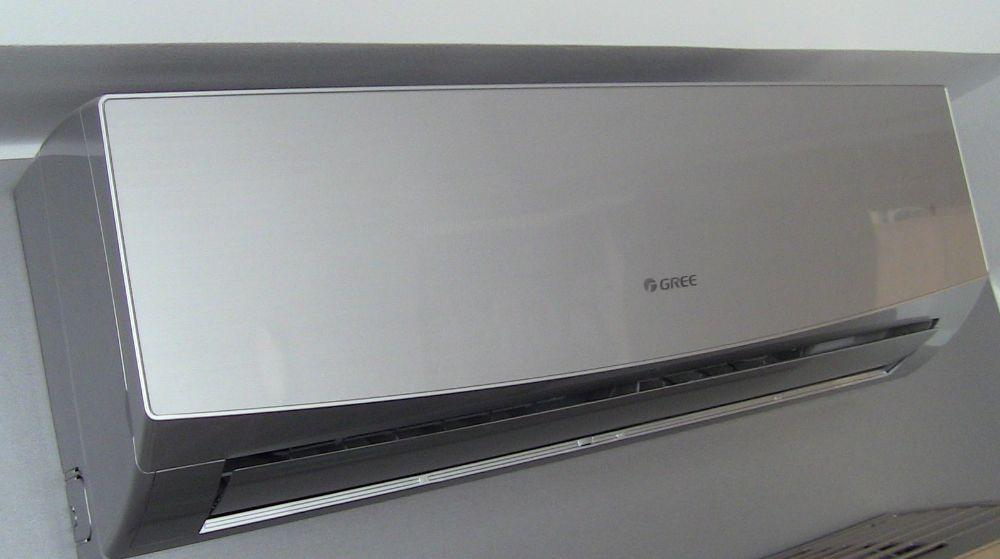 Зображення кондиціонера Gree GWH24QE-K6DND2E Silver серії LOMO для офісу площею до 70 м2