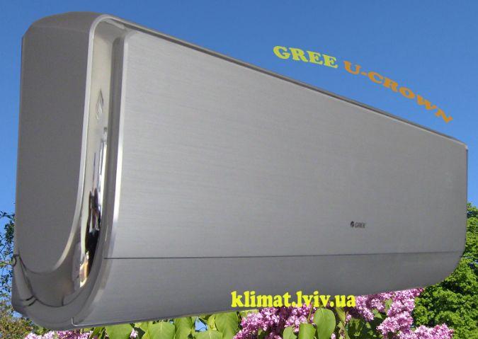 Зображення кондиціонера Gree GWH18UС-K3DNA4F серії U-CROWN DC Inverter для вітальної кімнати до 50 м2