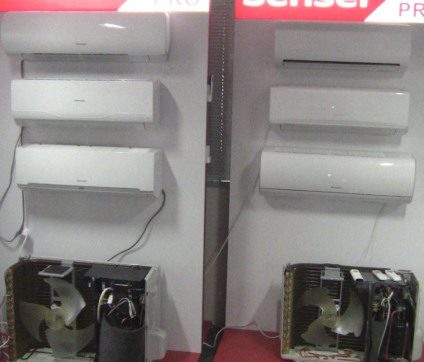 Зображення кондиціонерів SENSEI Inverter різних серій для будинку та офісу